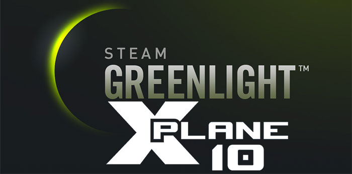 X-Plane 10 on Steam Greenlight logo