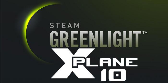 X-Plane 10 on Steam Greenlight logo