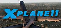 X-Plane 11 logo.