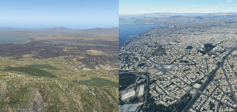 Comparing MSFS to X-Plane 11 over Athens, Greece.