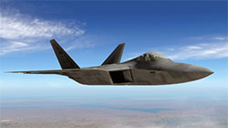 XP11 Lockheed F-22 Raptor in flight.
