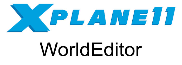 X-Plane 11 and WorldEditor logo.