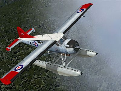AF DeHavilland DHC-2 Beaver in flight.
