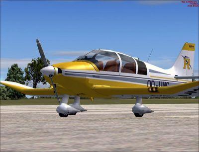 DR400 Robin on runway.