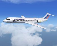 Air France Fokker 100 in flight.