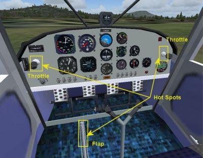 Cockpit view of I.C.P. Savannah UltraLight.