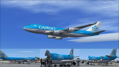 Muliple images of KLM Cargo Boeing 747-406ERF.