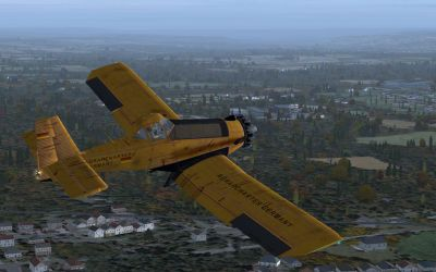 PZL M-18A in flight.