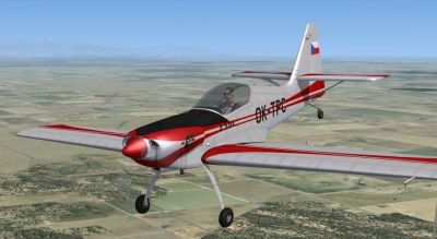 SP-2 Acceleration Zlin Z-50L in flight.