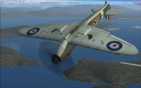 Screenshot of A2A's Spitfire MK1 in FSX.