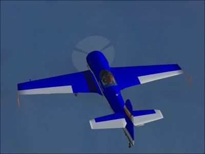 Aerobatic Sukhoi Su-31 in flight.
