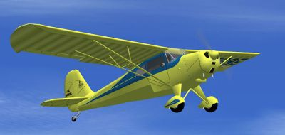 Aeronca Chief in flight.