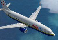 Arkefly-Miami Air Boeing 737-800 in flight.
