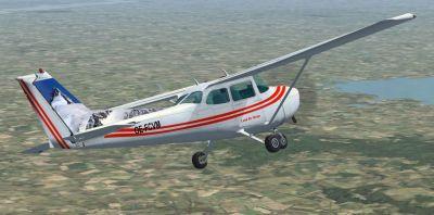 Austrian Cessna 172 SP in flight.