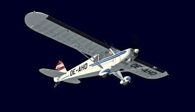 Austrian Piper Super Cub in flight.
