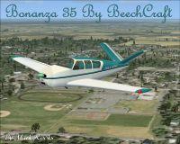 Beech Bonanza 35 in flight.