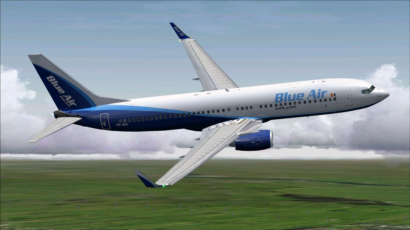 Blue Air Web.com Boeing 737-800 for FSX