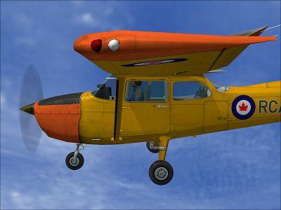 Canadian Cessna 172 in flight.