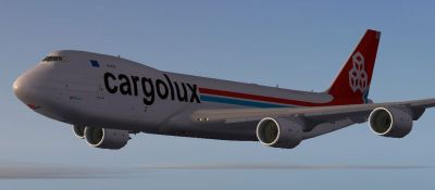 Cargolux Boeing 747-8F in flight.