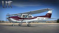 Cessna 172 on runway.
