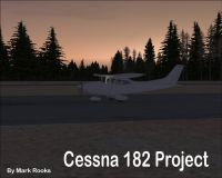 Cessna 182 Project on runway.