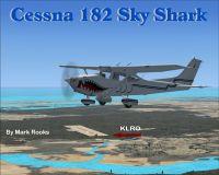 Cessna 182 Sky Shark in flight.