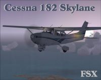 Cessna 182 Skylane in flight.