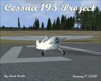 Cessna 195 FSX Project on runway.
