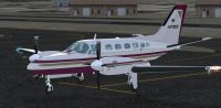 Cessna Conquest 441 on tarmac.