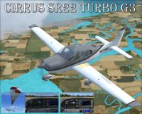 Cirrus SR22-GTS Turbo G3 in flight.