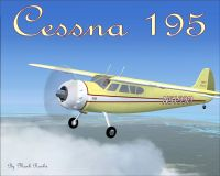 Classic Cessna 195 in flight.
