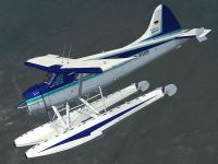 De Havilland DHC-2 Beaver D-FVIP in flight.