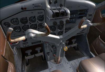 View of the DeHavilland Beaver cockpit.