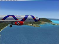 Dominican Airways Airbus A320-200 in flight.