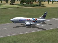Dominican Airways Boeing 737-500 taking off.