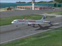 Dominican Airways Boeing 757-200 taking off.