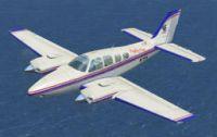 Eagle One Beechcraft Baron 58 in flight.