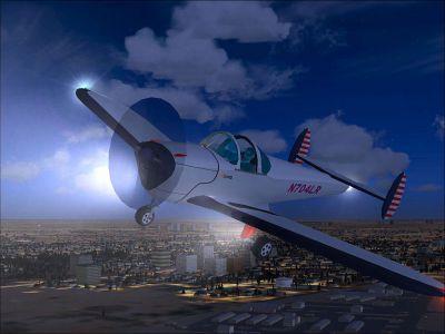 Ercoupe in flight.