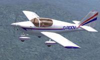 Europa XS Trike Gear in flight.
