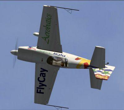FlyCay Aerobatics Extra 300S in flight.
