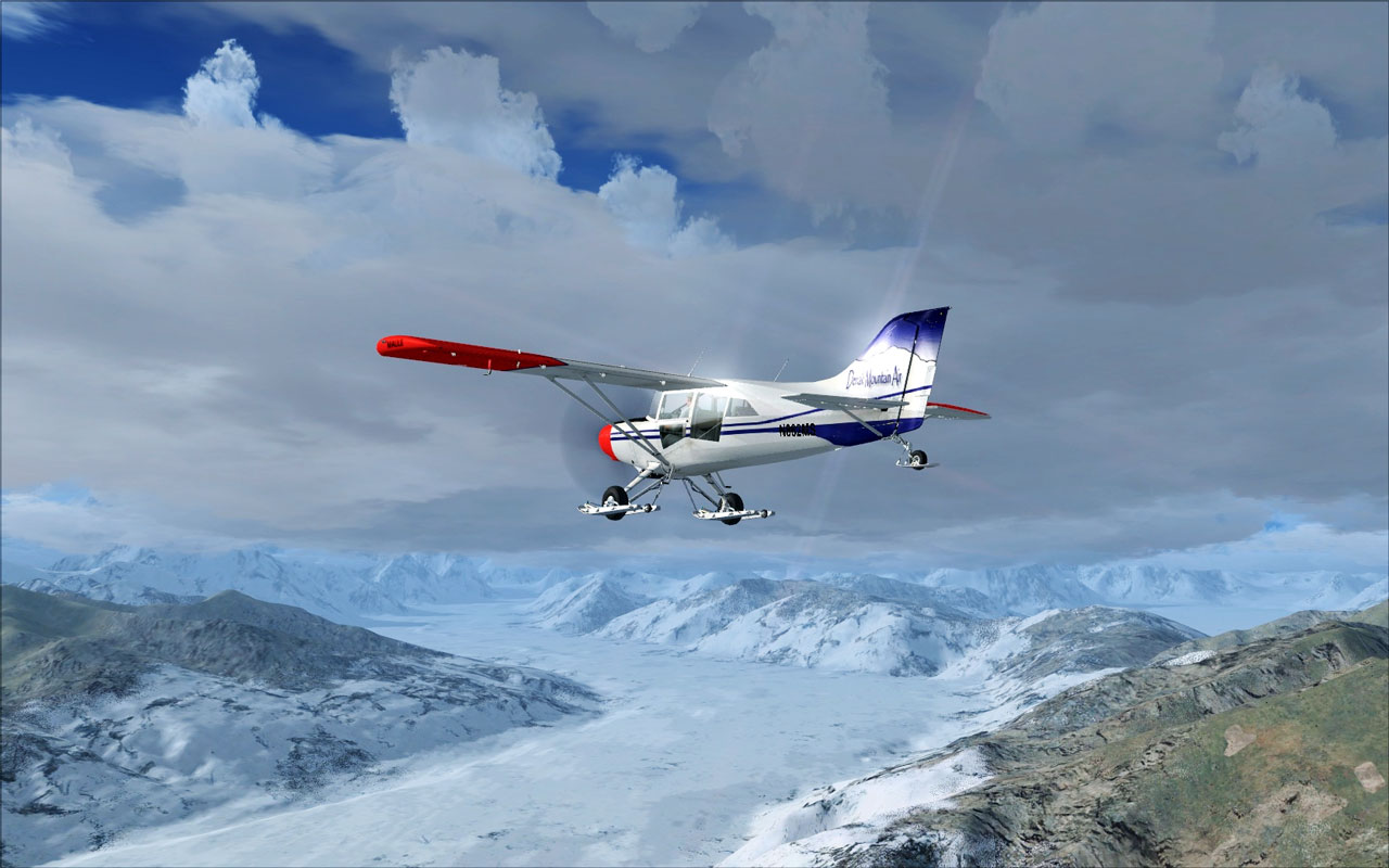 Image demonstrates the weather system in Microsoft Flight Simulator X ...