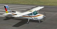 German Cessna 172 SP on runway.