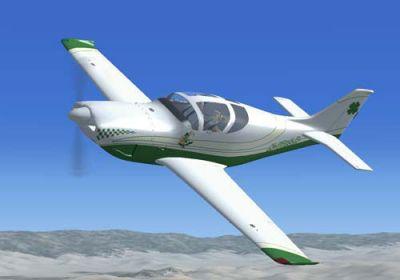 "Glasair III ""Irish"" in flight."