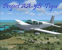 Grumman AA-5B Tiger Project in flight.