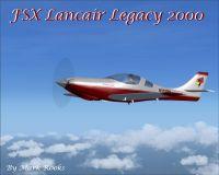 Lancair Legacy 2000 in flight.