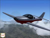 Legacy Lancair 2000 in flight.