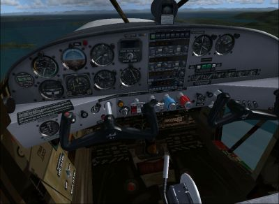 Cockpit view from Maule M-7 260C.