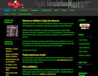 Screenshot of the MigMan Flight Simulation Museum website