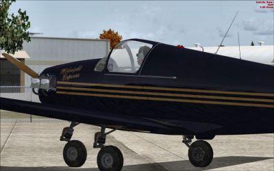 """Mooney M-18C Mite """"Midnight Express""""."""