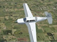 Mooney Acclaim G1000 N104TN in flight.
